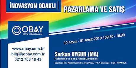 İNOVASYON ODAKLI PAZARLAMA VE SATIŞ  Ücretli tickets
