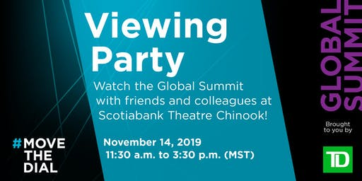 #movethedial Summit: Livestream Viewing Party (Calgary)