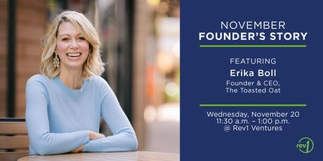 November Founder's Story: Erika Boll, Founder and CEO, The Toasted Oat tickets