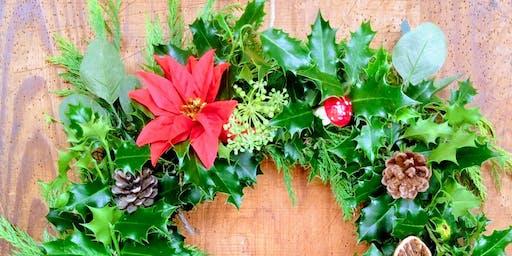 Holly Wreath Workshop, Stuart House, Liskeard