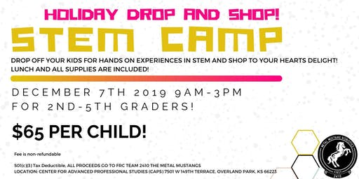 Holiday STEM Camp December 7, 2019