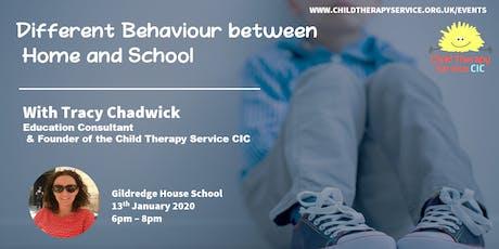 Different behaviour between school and home tickets