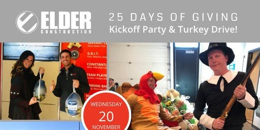 Elder Construction's 25 Days of  Giving Kickoff Party