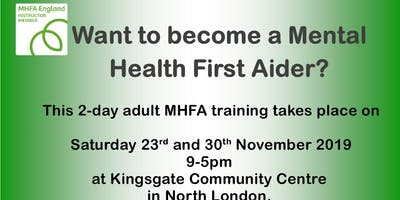 Mental Health First Aid 2 day ***** Training Course