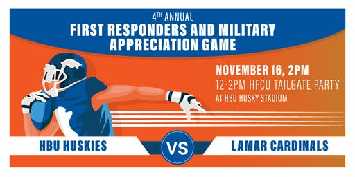 HBU and HFCU's 4th Annual First Responders and Military Appreciation Game