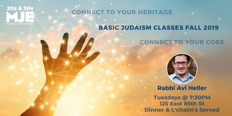 Tuesday Night Class & Dinner @ 7:30 w/ Rabbi Avi Heller | Weekly Wisdom | MJE East tickets