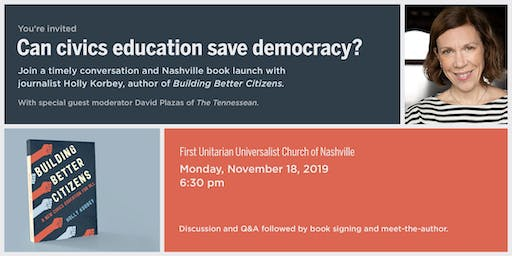 BUILDING BETTER CITIZENS book event with Holly Korbey