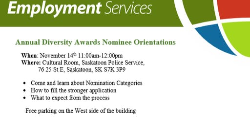 Annual Diversity Awards Nominee Orientations