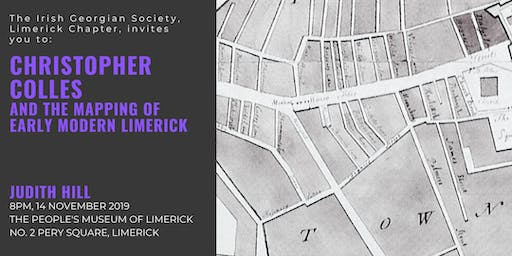 Lecture: Christopher Colles and the Mapping of Early Modern Limerick