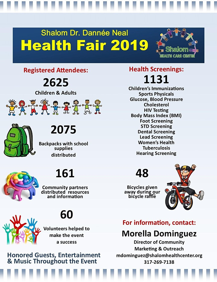 Shalom Dr. Dannee Neal Back-To-School Health Fair image