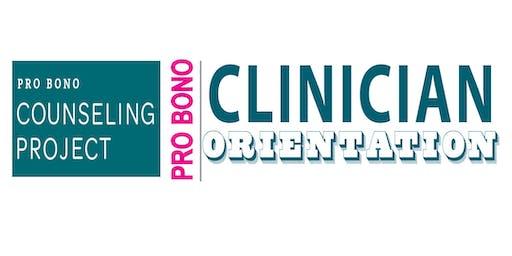 Pro Bono Clinician Orientation 12-11-19