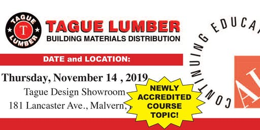 Tague Lumber's AIA Lunch/Learn (NEW! Weyerhaeuser CEU and TruStile Doors)