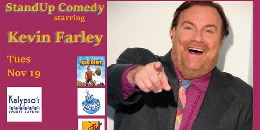 Comedian Kevin Farley at Kalypsos Sports Tavern in Reston