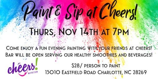 Paint & Sip at Cheers!