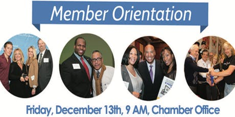 December Member Orientation tickets