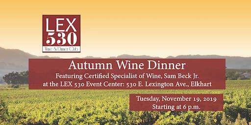 Autumn Wine Dinner