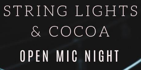 String Lights and Cocoa Open Mic Night tickets