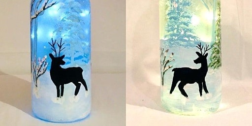 Winter Scene Wine Bottle Light