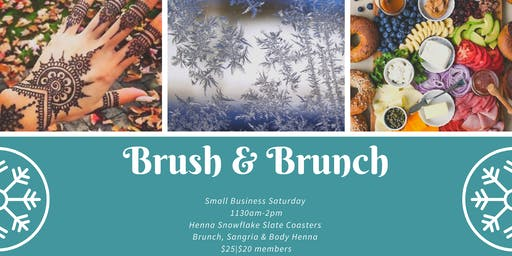 Brush & Brunch: Henna Snowflake Slate Coasters