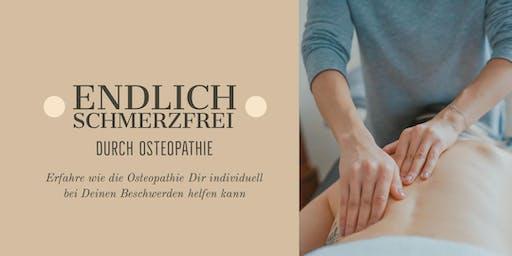 Endlich schmerzfrei durch Osteopathie
