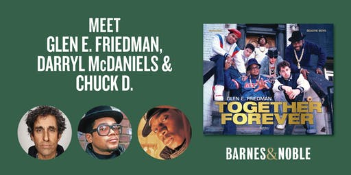 "Glen E. Friedman, Darryl ""DMC"" McDaniels & Chuck D. at B&N Union Square"