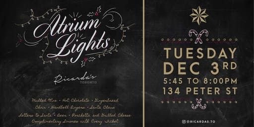 Atrium Lights 2019 | More Tickets Added!