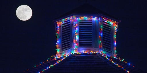 Holiday Lighting at the Octagon Barn
