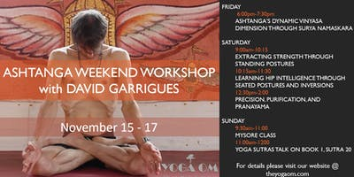 Ashtanga Weekend Workshop with David Garrigues