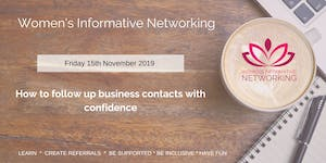 WIN Networking - How to follow up business...