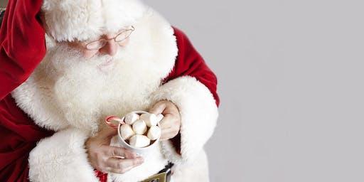 Cinnamon Rolls with Santa