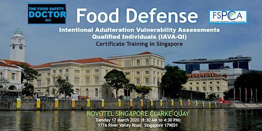 Food Defense  Qualified Individuals FSPCA (IAVA-QI) Training: Singapore