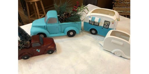 Old Truck and Camper Ceramic Planters  (2019-11-21 starts at 6:00 PM)