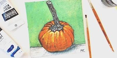 Acrylic Pumpkin Still Life