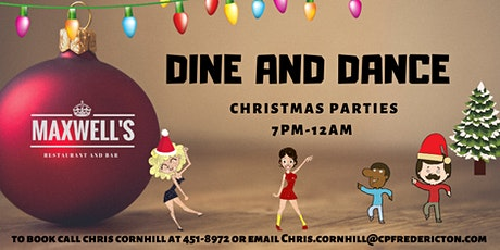 Maxwell's  Christmas dine and dance tickets