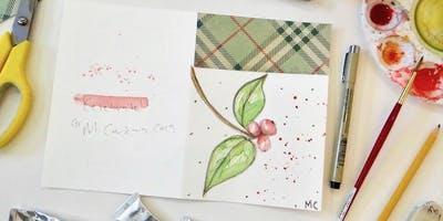 Mixed Media Holiday Greeting Cards