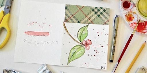 Mixed Media Holiday Greeting Cards