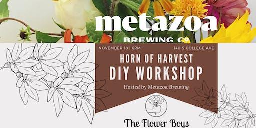 Thanksgiving Flower Arranging Workshop @ Metazoa - DRINK INCLUDED