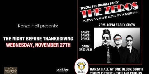 The Zeros at Kanza Hall Thanksgiving Eve
