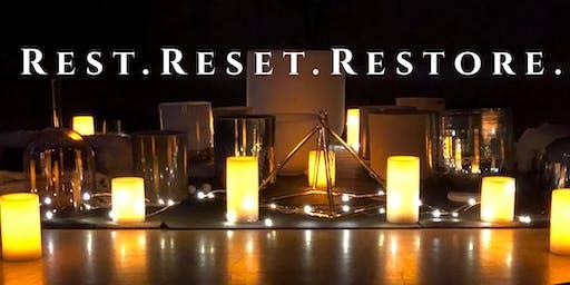 REST. RESET. RESTORE.