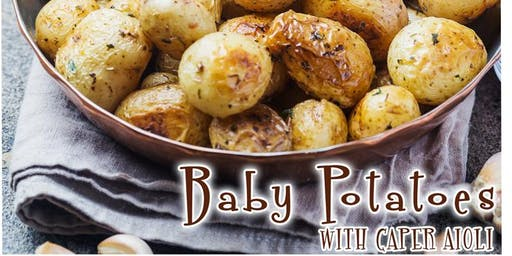 Baby Potatoes with Caper Aioli