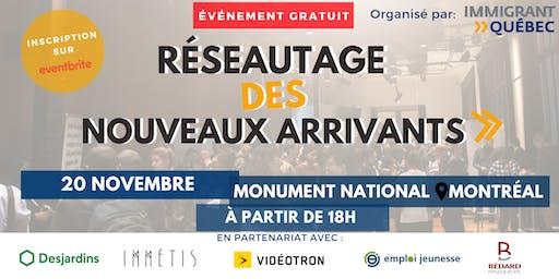 """Réseautage de bienvenue """"nouveaux arrivants à Montréal"""" -  20 Novembre"""