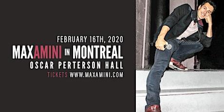 Max Amini Live in Montreal 2020 Tour tickets