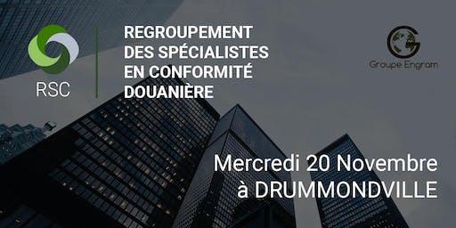 Regroupement des Spécialistes en Conformité à Drummondville le 20 Novembre
