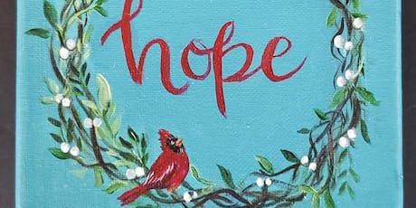 Hope Wreath-Canvas Paint Night tickets