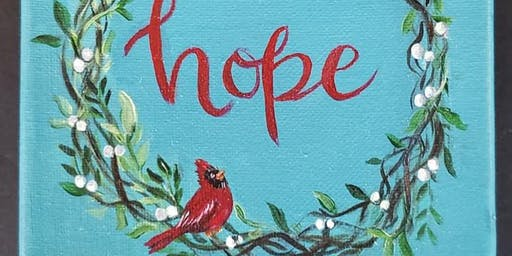 Hope Wreath-Canvas Paint Night