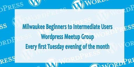 Milwaukee Wordpress Meetup for Beginners to Intermediate Users tickets