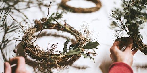 Christmas wreath making workshop (Sunday 8/12)