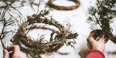 Christmas wreath making workshop (Saturday 14/12) tickets