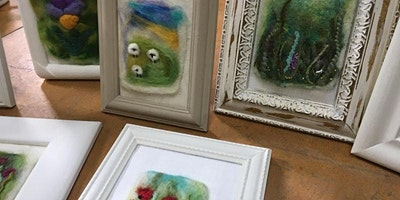 Needle-felted Landscapes with Maxine