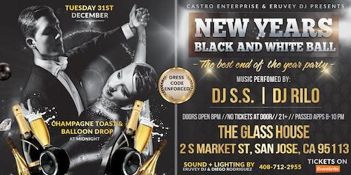 The Glasshouse: Black & White New Years Eve Party!